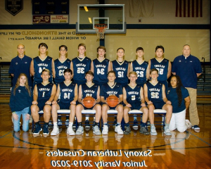 Saxony Lutheran High School boys JV basketball team
