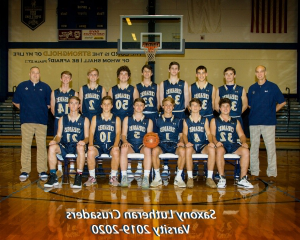 Saxony Lutheran High School Boys Varsity basketball team